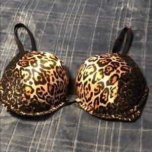 Victoria's Secret Leopard Bombshell Plunge Bra